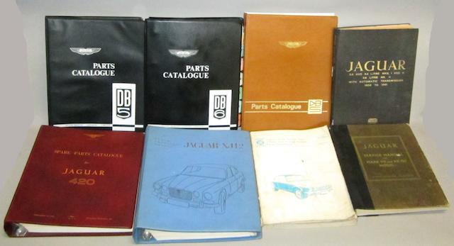Aston Martin and Jaguar technical literature,