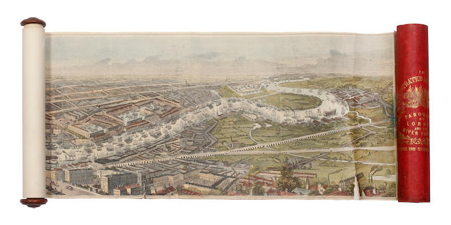 LONDON - Panorama of London and the River Thames, [1845]