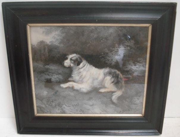 D Brontie (19th Century) A Pair of Gun Dog Portraits 23 x 27.5cm.