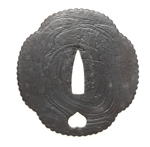 Four armourer's tsuba 17th to 18th century