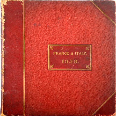 English School, 19th Century A grand tourist's album of watercolours and drawings depicting scenes in France and Italy