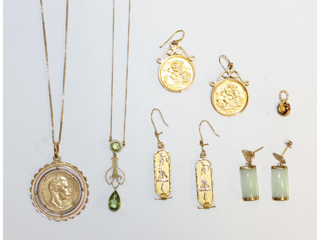 A collection of jewellery, (6)