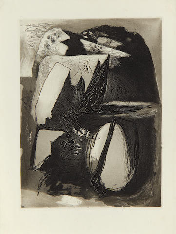 Graham Sutherland O.M. (British, 1903-1980) Clegyr-Boia Etching with aquatint, 1936, on wove,  an unsigned impression, from the edition of circa 1000, printed by Walsh, London, published in issue 9 of 'Signatur', 1938, 202 x 150mm (8 x 5 7/8in)(PL)(unframed)