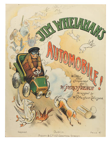 A collection of sheet music with a motoring theme,