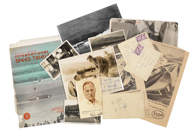A collection of photographs and ephemera relating to the 'Racing Campbells',