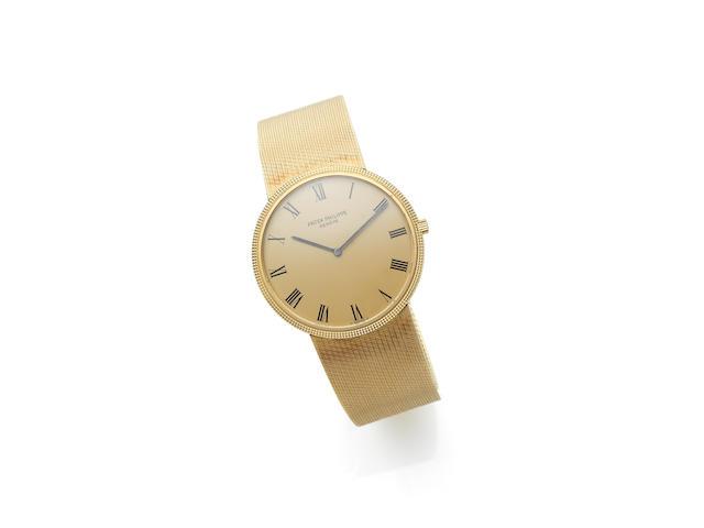 Patek Philippe. An 18ct gold automatic bracelet watchCalatrava, Ref:3588, Case No.272****, Movement No.128****, Circa 1970