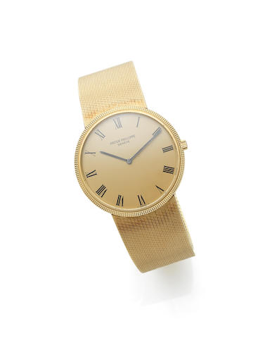 Patek Philippe. An 18ct gold automatic bracelet watchCalatrava, Ref:3588, Case No.272****, Movement No.128****, Circa 1970