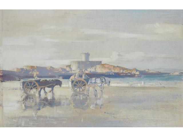 Edmund Blampied (Jersey, 1886-1966) Rocco Tower, Jersey