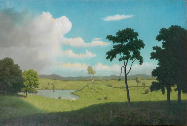 Algernon Newton (British, 1880-1968) Summer landscape 60.9 x 91.4 cm. (24 x 36 in.)