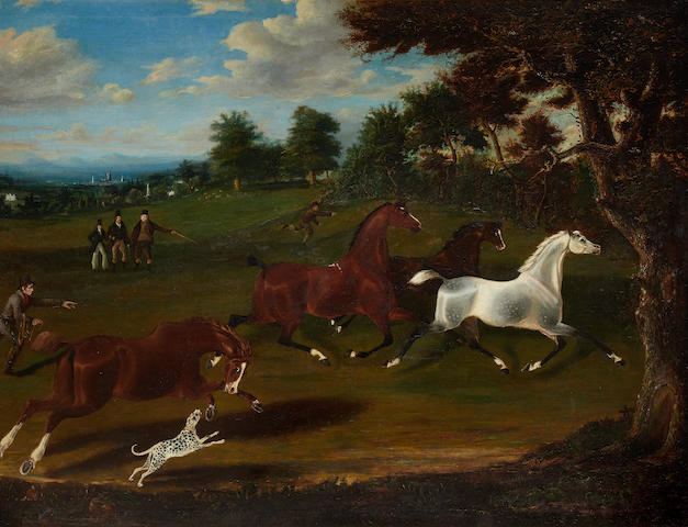 English School, 19th Century The hunt