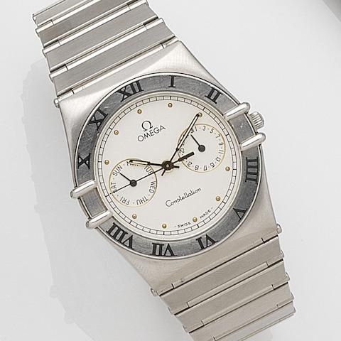 Omega. A stainless steel quartz calendar bracelet watchConstellation, Ref:396.1069, Case No.50273375, Circa 1990