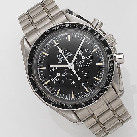 Omega. A stainless steel manual wind chronograph bracelet watchSpeedmaster Professional, Ref:145.022, Movement No.48263590, Circa 1985