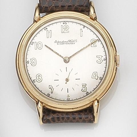IWC. A 14ct gold manual wind wristwatchCase No.1096021, Movement No.1118325, Circa 1945
