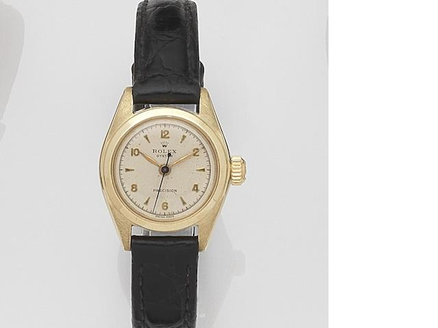 Rolex. A lady's stainless steel and gold manual wind wristwatchOyster, Ref:4271, Case No.502***, Circa 1959