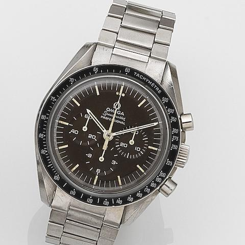 Omega. A stainless steel manual wind chronograph bracelet watchSpeedmaster, Ref:145.022, Movement No.29604417, Circa 1970