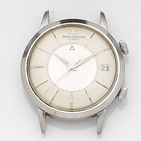Jaeger-LeCoultre. A stainless steel automatic watch headMemovox, Case No.913019, Circa 1960