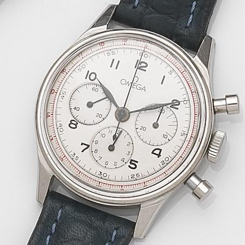 Omega. A stainless steel manual wind chronograph wristwatchRef:2451-1, Case No.355, Movement No.10387994, Circa 1945