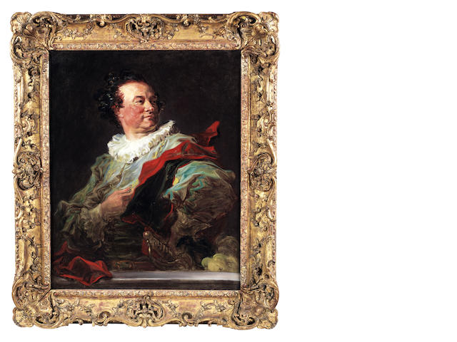 Jean Honoré Fragonard (French, 1732-1806) Portrait of François-Henri, 5th duc d'Harcourt, half-length and looking over his shoulder to his left