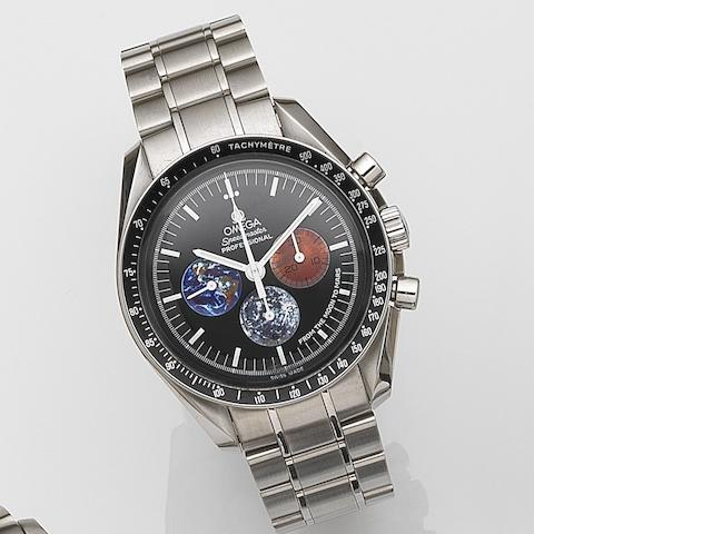 Omega. A stainless steel manual wind chronograph bracelet watchSpeedmaster Professional 'From The Moon to Mars', Ref:3577.50.00, No.6208, Case No.77771131, Sold December 2012