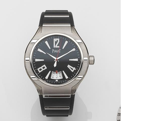 Piaget. A stainless steel and titanium automatic calendar wristwatchPolo Forty Five Automatique, Ref:G0A34011, Case No.1012383, Circa 2009
