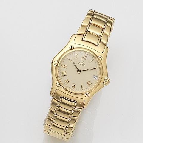 Ebel. A lady's 18ct gold quartz calendar bracelet watch1911, Ref:888901, Case No.72102197, Circa 2000