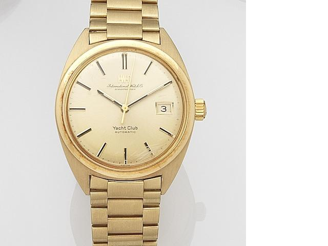 IWC. An 18ct gold automatic bracelet watchYacht Club, London Hallmark for 1976