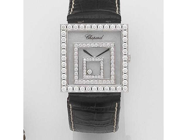 Chopard. An 18ct white gold and diamond set quartz wristwatchHappy Spirit, Ref:742 1, Case No.565647, Recent