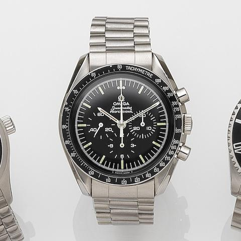 Omega. A stainless steel manual wind chronograph bracelet watchSpeedmaster Professional, Ref:145.022, Movement No.39921170, Circa 1978