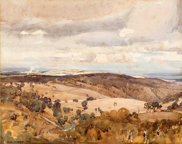 Hans Heysen (1877-1968) Australian landscape 1927