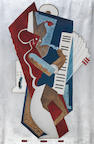 John Joseph Wardell Power (1881-1943) Abstract accordionist
