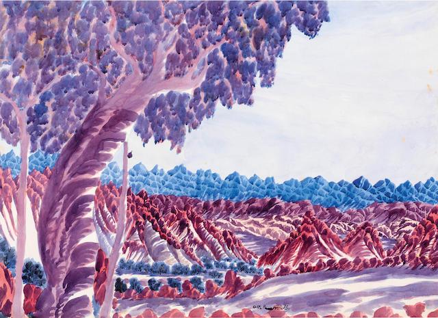 Otto Pareroultja (1914-1973) Untitled (Central Australian landscape)