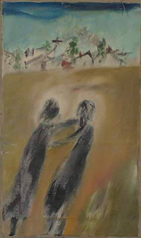 Sidney Nolan (1917-1992) Couple at Wail, Wimmera c.1943