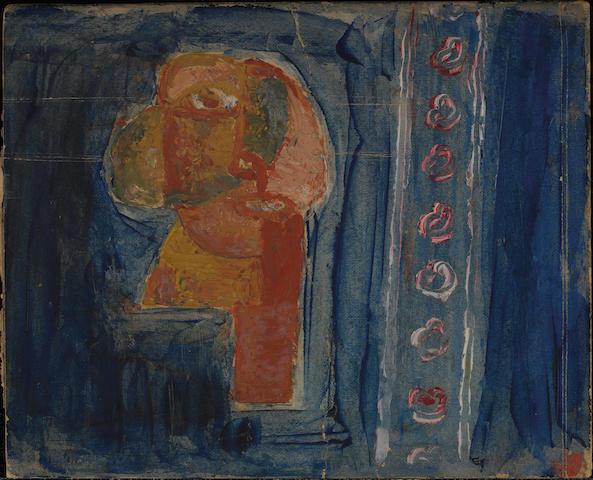 Sidney Nolan (1917-1992) Woman in a blue room c.1939