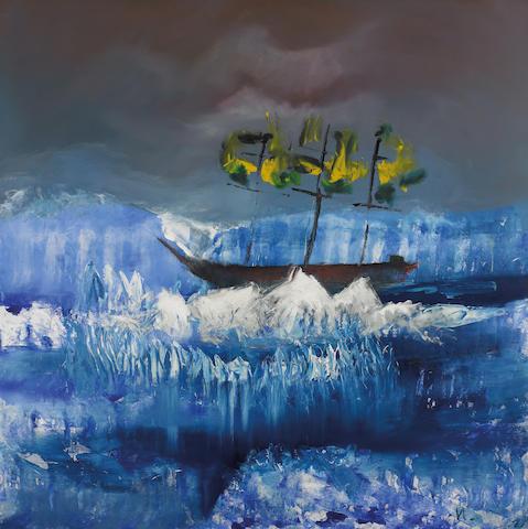 Sidney Nolan (1917-1992) Icebound ship, Antarctica 1964