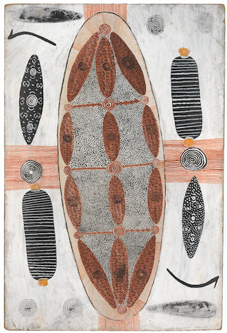 Tim Leura Tjapaltjarri (circa 1929-1984) Travelling honey ant dreaming - (version 7) 1972
