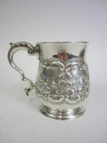 A George III silver mug by Daniel McCarthy, Cork 1777-1782