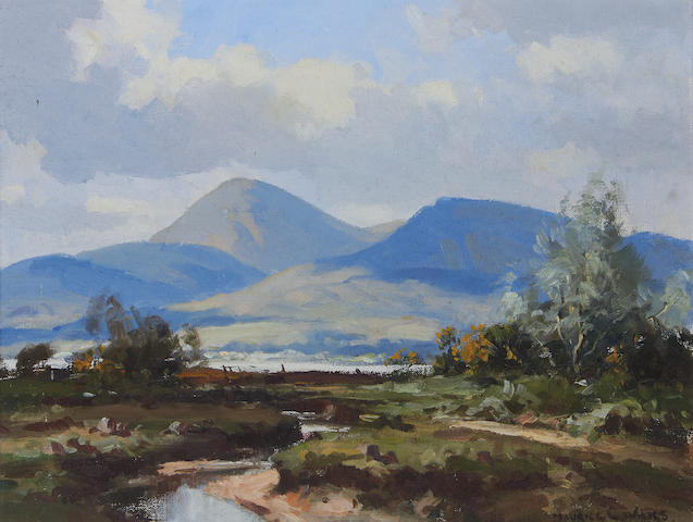 Maurice Canning Wilks R.U.A., A.R.H.A. (Irish, 1910-1984) 'Slieve Donard from Dundrum, Co. Down'