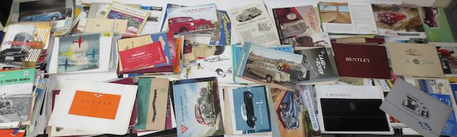 A good lot of assorted post-War sales literature for various marques,