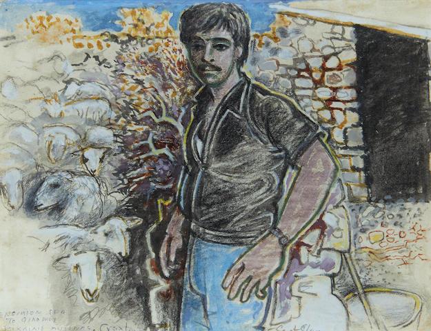 John Craxton R.A. (British, 1922-2009) Cretan Shepherd