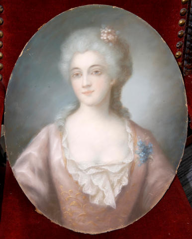 French School, 19th Century Portrait of a lady