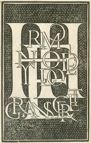 TAGLIENTE (GIOVANNI ANTONIO)  Lo presente libro insegna la vera arte delo excellente scrivere de diverse varie sorte de litere, 1547]