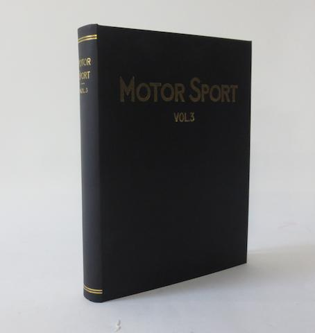 Motor Sport; Volume 3, July 1926 to June 1927,