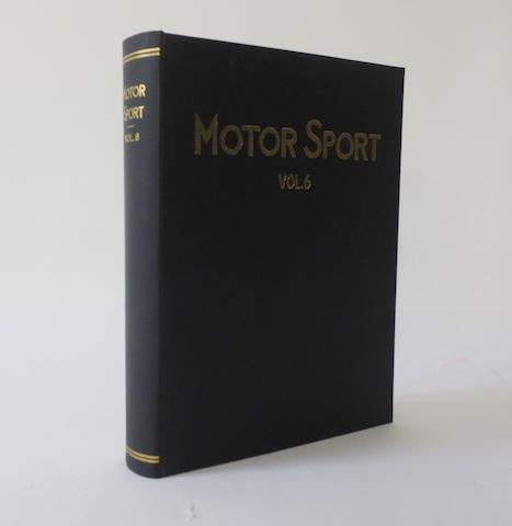 Motor Sport; Volume 6, November 1929 to October 1930,