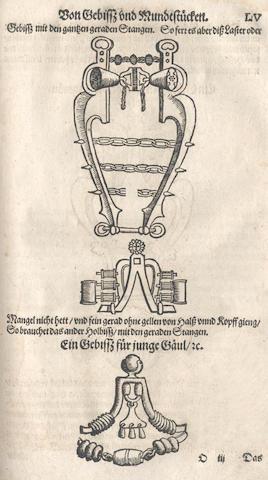 AMMAN (JOSS, illustrator) - [C. (L.V., Keyserlicher Stallmeister) Ritterliche Reutter Kunst Darinnen, 1584