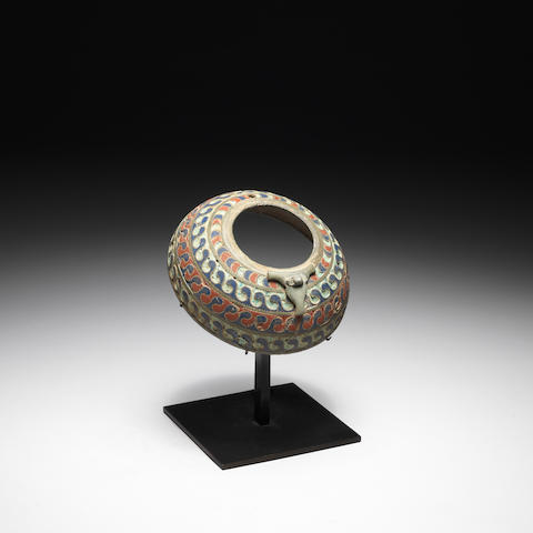 A Romano-Celtic enamel composite vessel section
