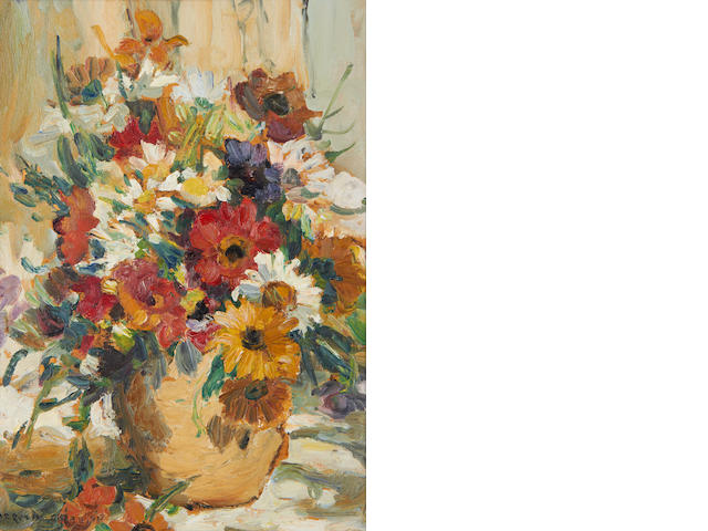 Dorothea Sharp (British, 1874-1955) Mixed flowers in a vase
