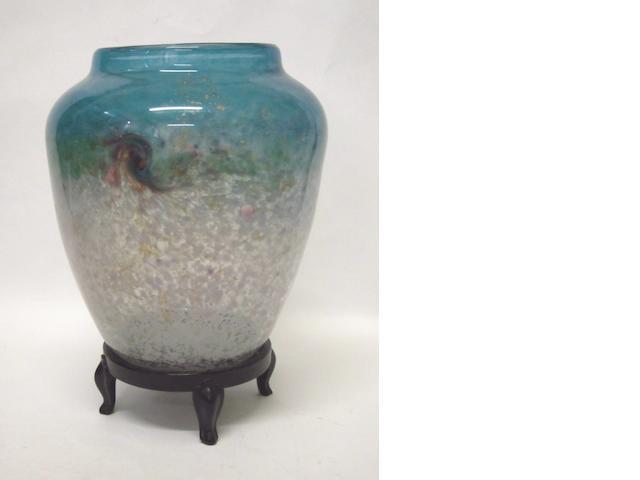A Monart vase Shape JA