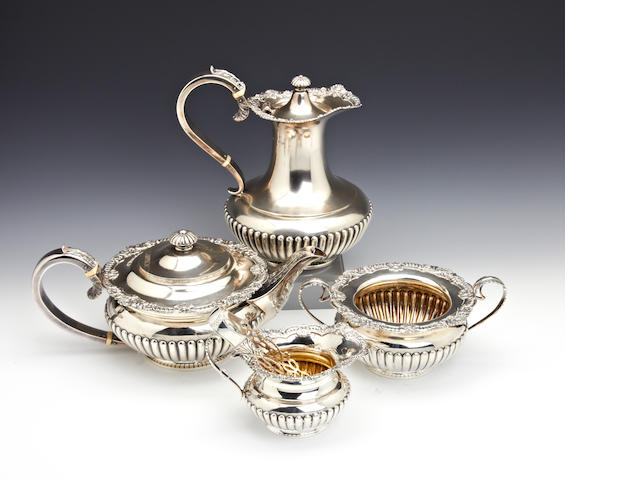 A silver  four piece tea service by J. Dixon and sons, Sheffield  1937  (5)