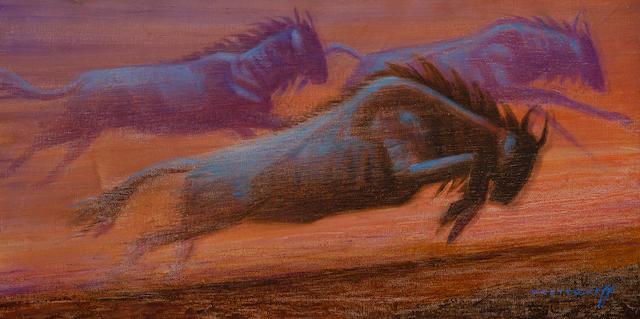 Vladimir Griegorovich Tretchikoff (South African, 1913-2006) 'Wildebeeste'