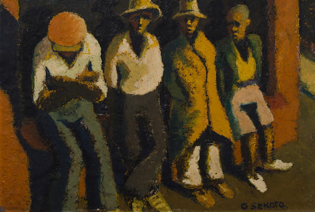 Gerard Sekoto (South African, 1913-1993) Waiting
